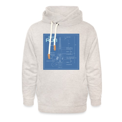 NeonRun blueprint - Unisex sjaalkraag hoodie