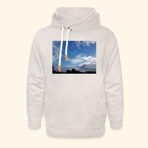 himmlisches Wolkenbild - Unisex Schalkragen Hoodie