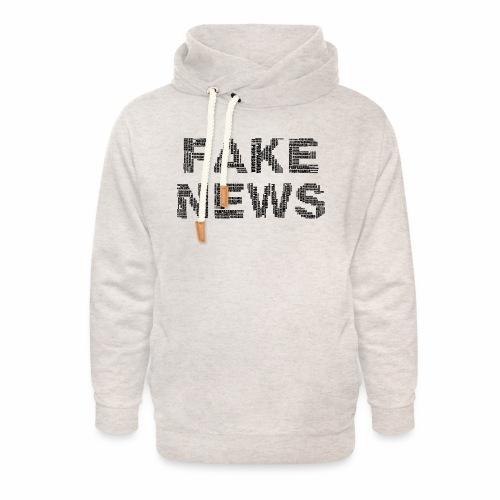 Falsche Nachrichten - Unisex Schalkragen Hoodie