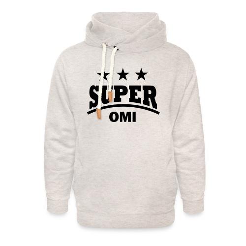 cool super omi raster - Unisex sjaalkraag hoodie