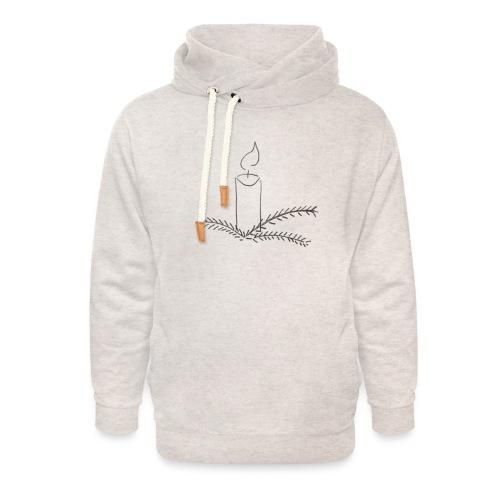 Klar til jul - Unisex hoodie med sjalskrave