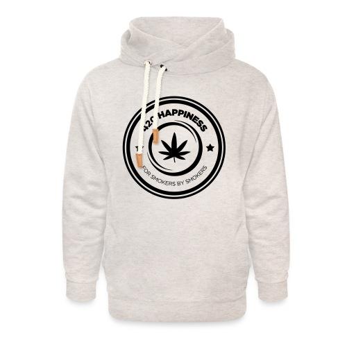 420_Happiness_logo - Unisex hoodie med sjalskrave
