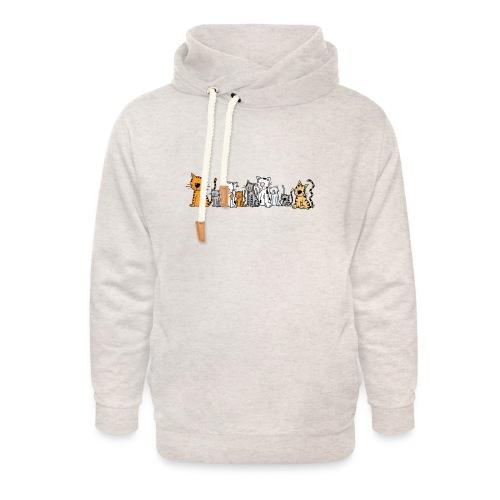 Cats & Cats - Unisex sjaalkraag hoodie