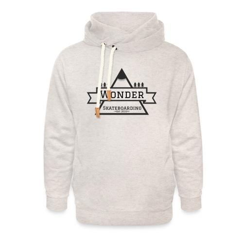 Wonder T-shirt: mountain logo - Unisex hoodie med sjalskrave