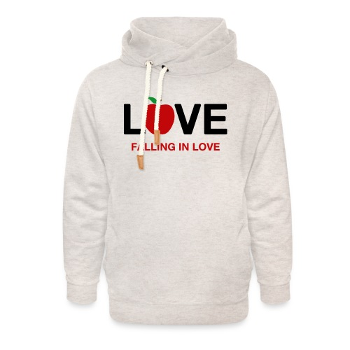 Falling in Love - Black - Unisex Shawl Collar Hoodie