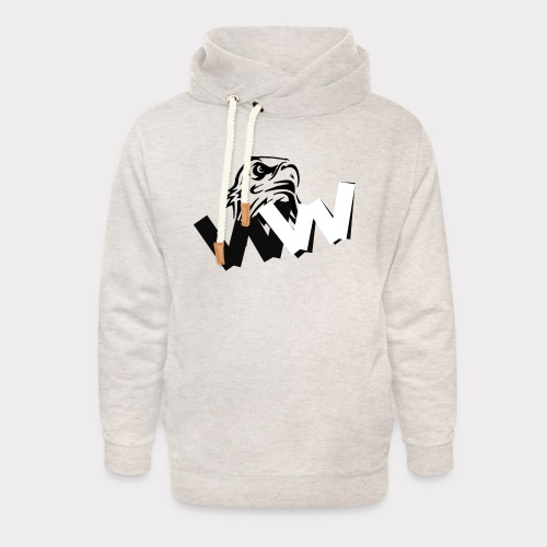 White and Black W with eagle - Unisex Shawl Collar Hoodie