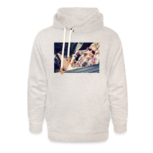 Cool woman in car - Unisex Shawl Collar Hoodie