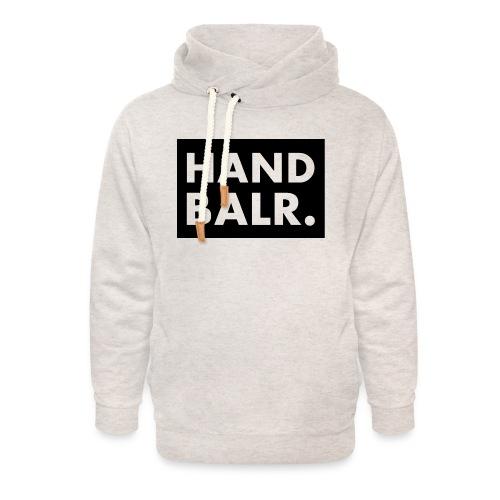 Handbalr Wit - Unisex sjaalkraag hoodie