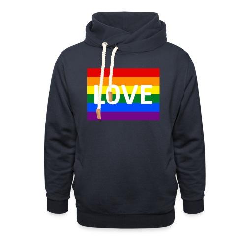 LOVE CAP - Unisex hoodie med sjalskrave