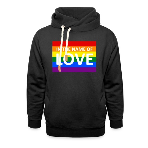 IN THE NAME OF LOVE RETRO T-SHIRT - Unisex hoodie med sjalskrave