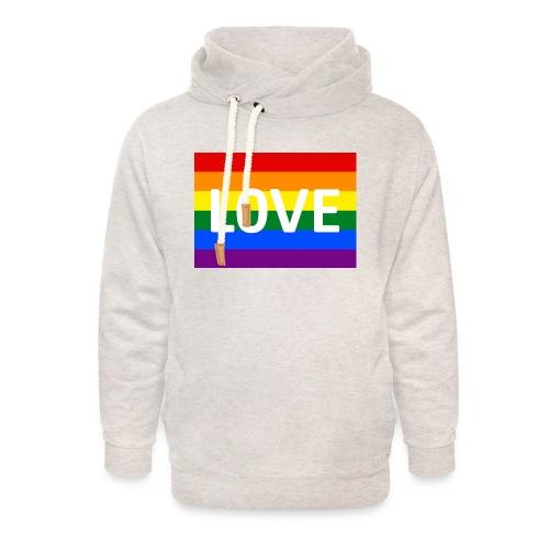 LOVE SHIRT - Unisex hoodie med sjalskrave