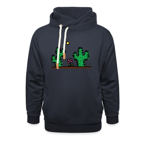 Cactus - Felpa con colletto alto unisex