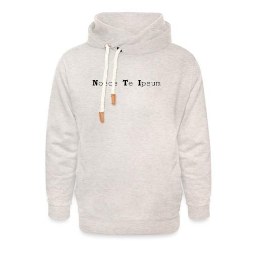 Nosce Te Ipsum - Black Text - Unisex Shawl Collar Hoodie