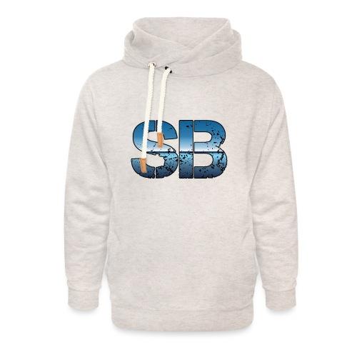 SB Logo - Unisex hoodie med sjalskrave