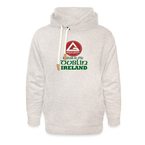 Gracie Barra Dublin Gaelic Celtic Font PNG - Unisex Shawl Collar Hoodie