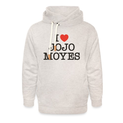 I LOVE JOJO MOYES - Unisex hoodie med sjalskrave