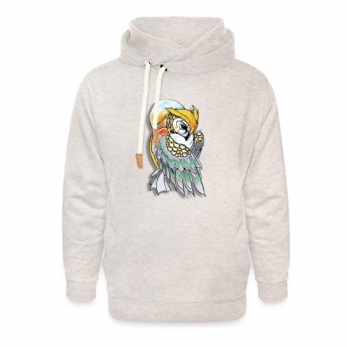 Cosmic owl - Sudadera con capucha y cuello alto unisex