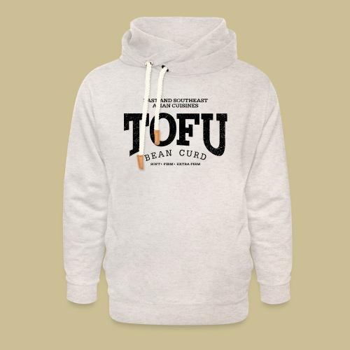 Tofu (black oldstyle) - Unisex Schalkragen Hoodie