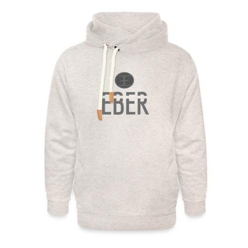 EBER: T-Shirt - Grey - Luvtröja med sjalkrage unisex