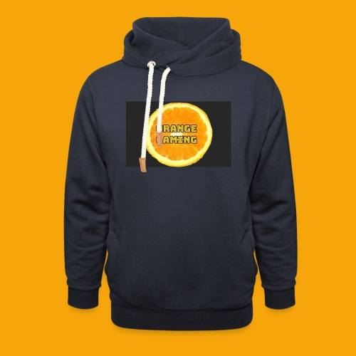 Orange_Logo_Black - Unisex Shawl Collar Hoodie