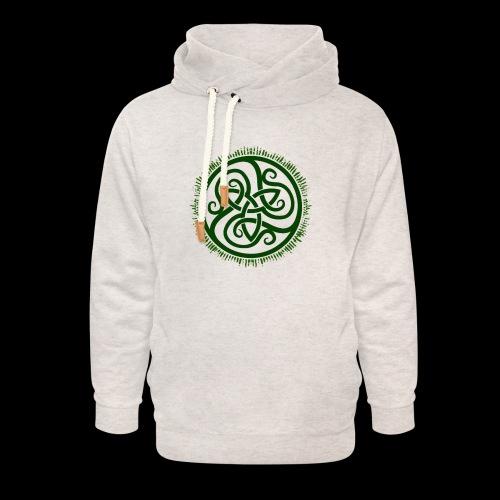 Green Celtic Triknot - Unisex Shawl Collar Hoodie