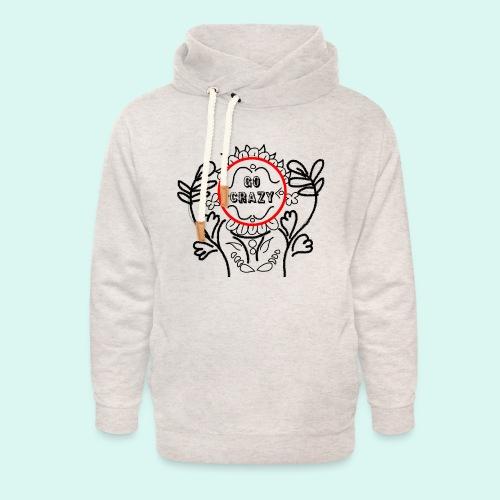 Go Crazy Flower - Unisex sjaalkraag hoodie