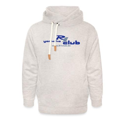 R1club Logo blau - Unisex Schalkragen Hoodie