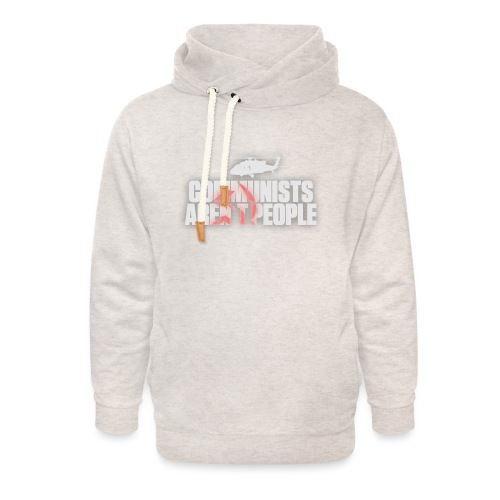 Communists aren't People (White) (No uzalu logo) - Unisex Shawl Collar Hoodie