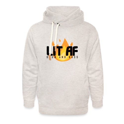 LIT AF Drum and Bass - Unisex Schalkragen Hoodie