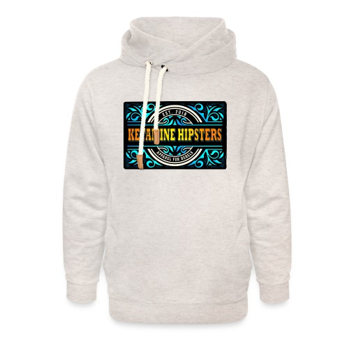 Black Vintage - KETAMINE HIPSTERS Apparel - Unisex Shawl Collar Hoodie