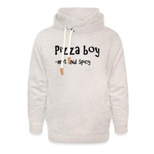 Pizza boy - Unisex hettegenser med sjalkrage