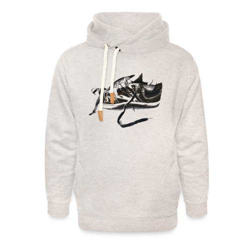 shoe (Saw) - Unisex Shawl Collar Hoodie