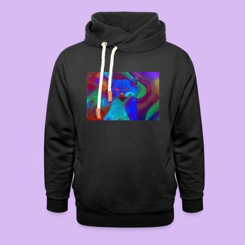 Gattino con effetti neon surreali - Felpa con colletto alto unisex