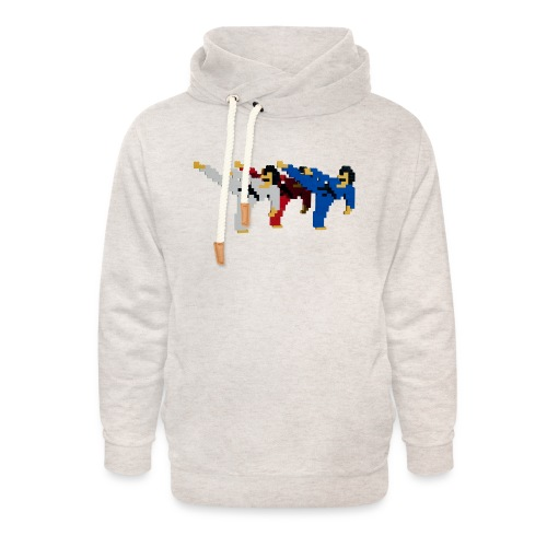 8 bit trip ninjas 2 - Unisex Shawl Collar Hoodie