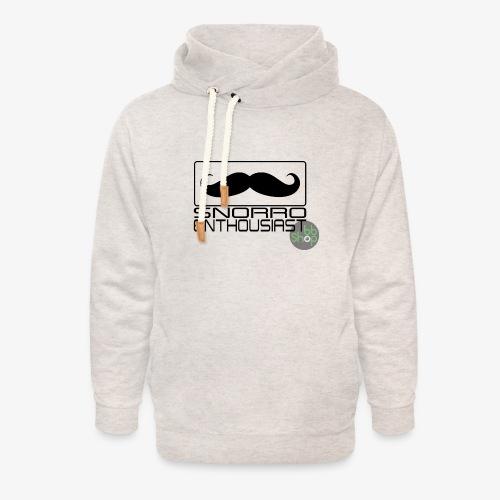 Snorro enthusiastic (black) - Unisex Shawl Collar Hoodie