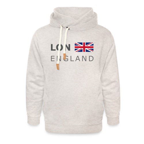 LON ENGLAND BF dark-lettered 400 dpi - Unisex Shawl Collar Hoodie