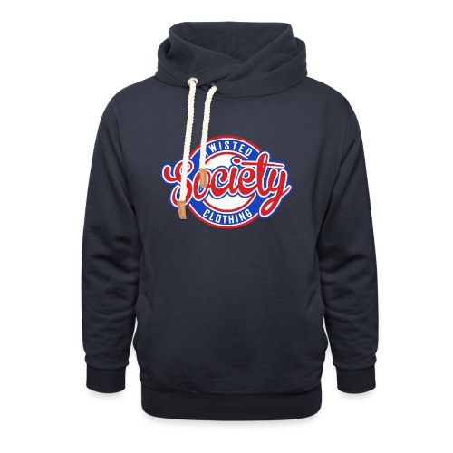 Retro baseball logo - Unisex Shawl Collar Hoodie