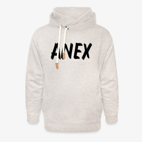 V-neck T-Shirt Anex black logo - Unisex Shawl Collar Hoodie