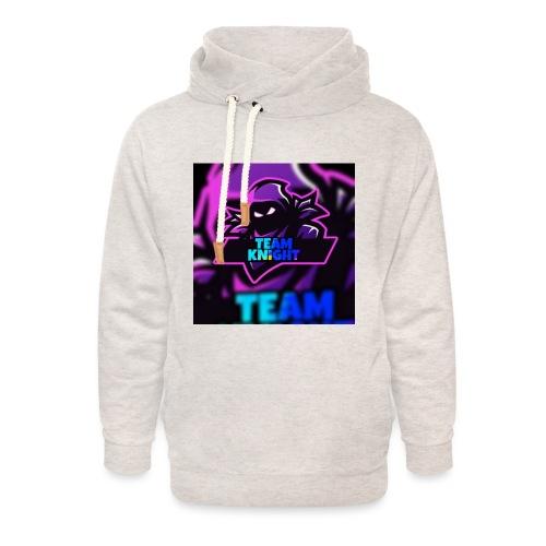 team knight aleen van voor - Unisex sjaalkraag hoodie