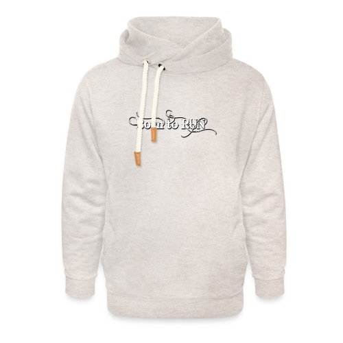 Born-to-RUN---Logo---White.png - Unisex Schalkragen Hoodie