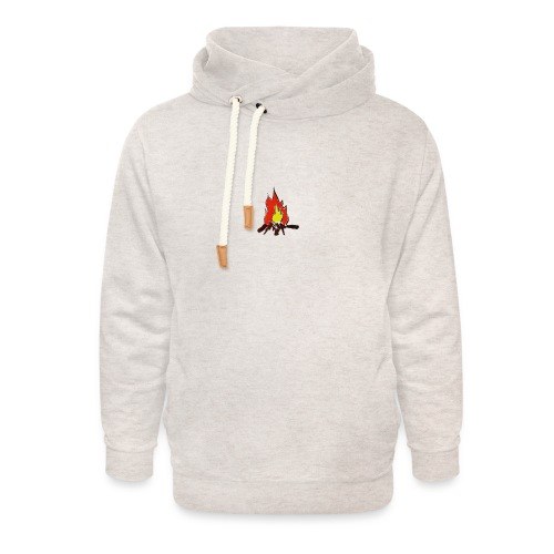 Fire color fuoco - Felpa con colletto alto unisex