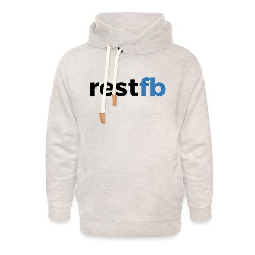 RestFB logo black - Unisex Shawl Collar Hoodie