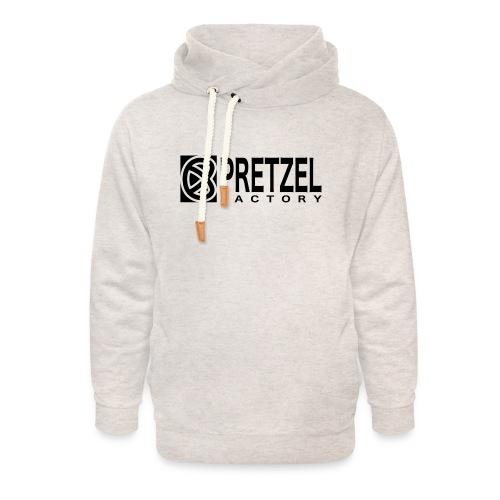Pretzel Factory Logo Noir - Sweat à capuche cache-cou unisexe