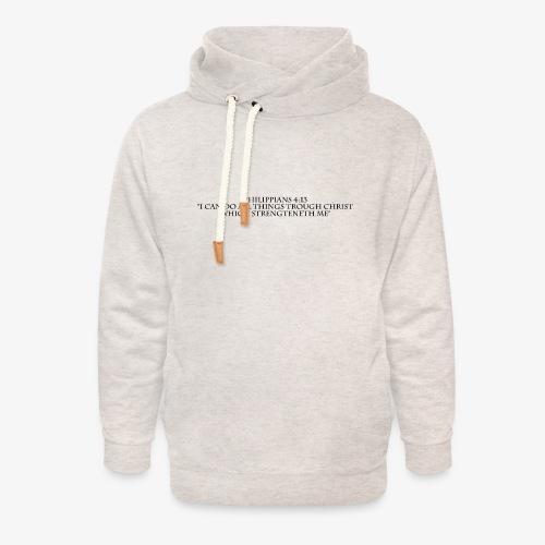 Philippians 4:13 black lettered - Unisex sjaalkraag hoodie