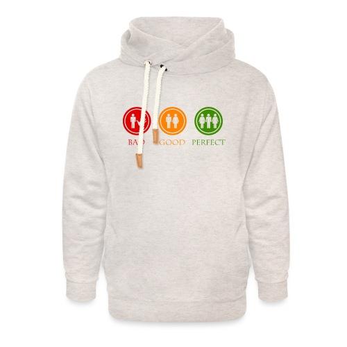 Bad good perfect - Threesome (adult humor) - Unisex sjaalkraag hoodie
