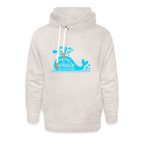 Everything Whale Be Alright - Sweat à capuche cache-cou unisexe