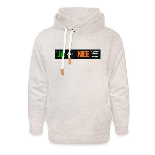 facebookvrienden - Unisex sjaalkraag hoodie