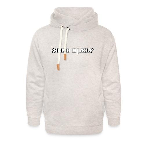 SEND HJÆLP T-shirt - Unisex hoodie med sjalskrave