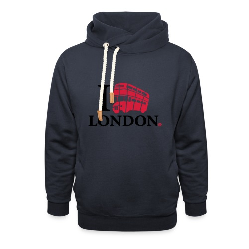 I love (Double-decker bus) London - Unisex Shawl Collar Hoodie