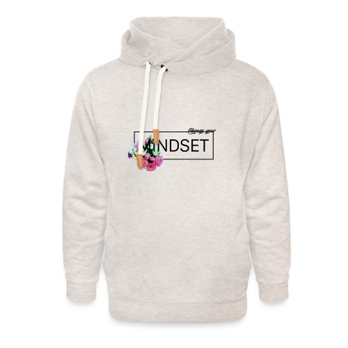 Change Your Mindset Flower Power - Unisex Schalkragen Hoodie